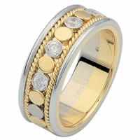 Item # 687630101D - 14 K Two-Tone Diamond Eternity Ring