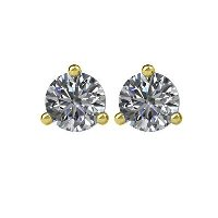 Item # 730333E - 0.33ct Martini Style Diamond  Earrings
