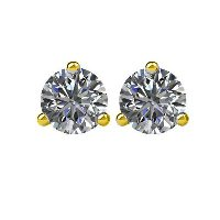 Item # 730503E -  Gold 0.50ct. Diamond Earrings 3-Prongs