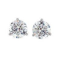 Item # 730503W - Diamond Stud Earrings 0.50ct