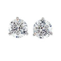 Item # 730753PP - Platinum Diamond Stud Earrings