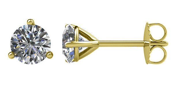Item # 730753 View 2 - 14K Diamond Stud Earrings