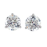 Item # 731003W - 14K Diamond Stud Earrings