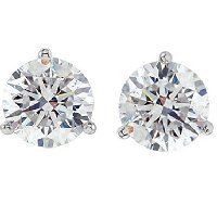 Item # 732003PP - Platinum Diamond Earrings