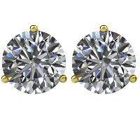 Item # 732003 - 3-Prongs Round Diamond Earrings 2.0ct.