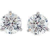 Item # 732003WE - 2.0ct. Martini  White Gold Diamond Stud Earrings