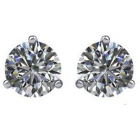 Item # 733003WE - 18K White Gold Diamond Earrings