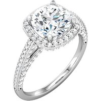 Item # 74603AW - Halo Engagement Ring