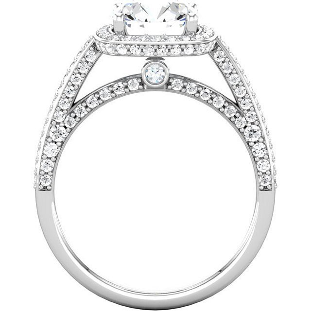 Item # 74603AW View 2 - Halo Engagement Ring