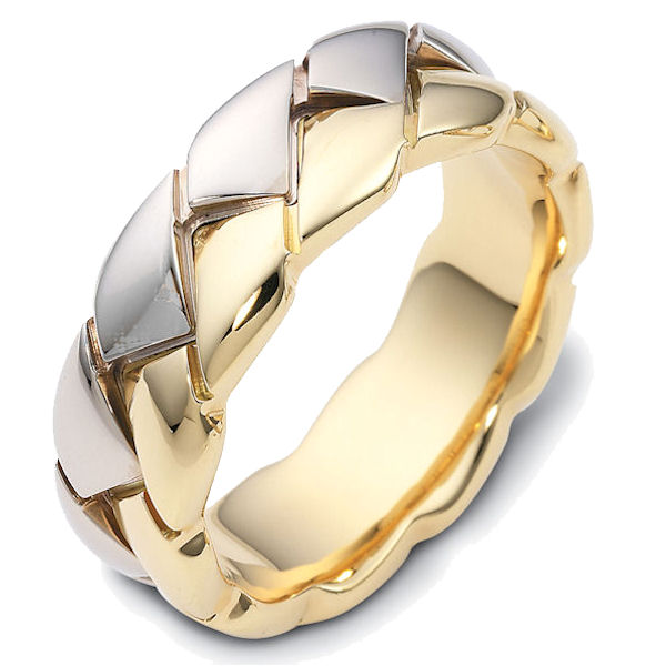 14K Two-Tone Braided Band
