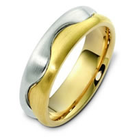 Item # A122621E - 18K Two Tone Wedding Band
