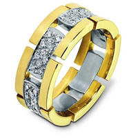 18K Gold Flexible Diamond Wedding Band