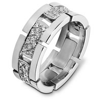 White Gold Diamond Flexible Wedding Band