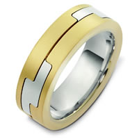 Item # A124961E - 18K Two-Tone Wedding Band.