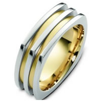 Item # A125781 - 14K Two-Tone Wedding Band.