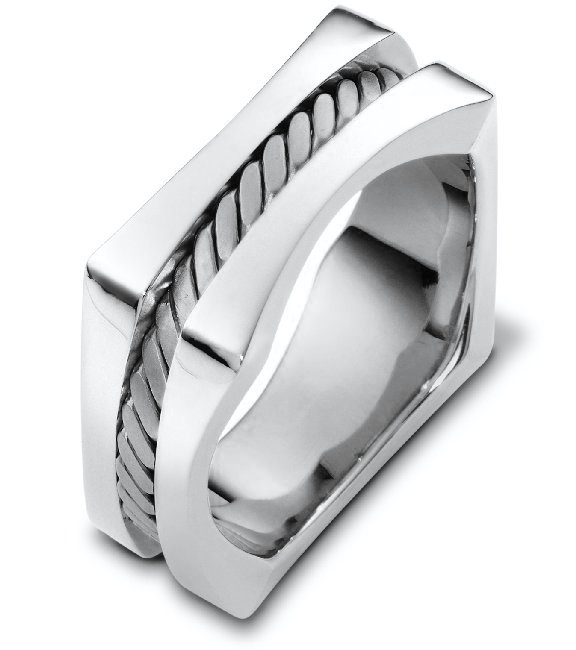 Sterling Silver Square Wedding Band