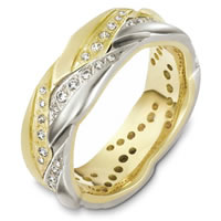 Item # A127911E - 18K Gold Diamond Wedding Band
