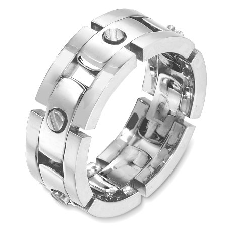 Item # A129951W - 14 Kt White Gold Wedding Band View-1