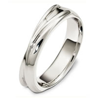 Item # A130261WE - 18 Kt White Gold Wedding Band