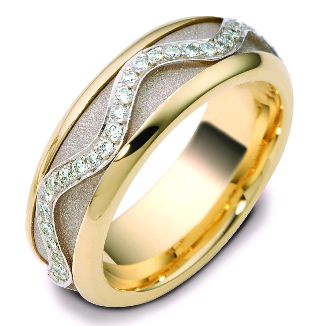 Item # A7769 - 14K Center Rotating Diamond Ring View-1