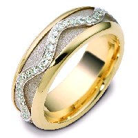 14K Center Rotating Diamond Ring
