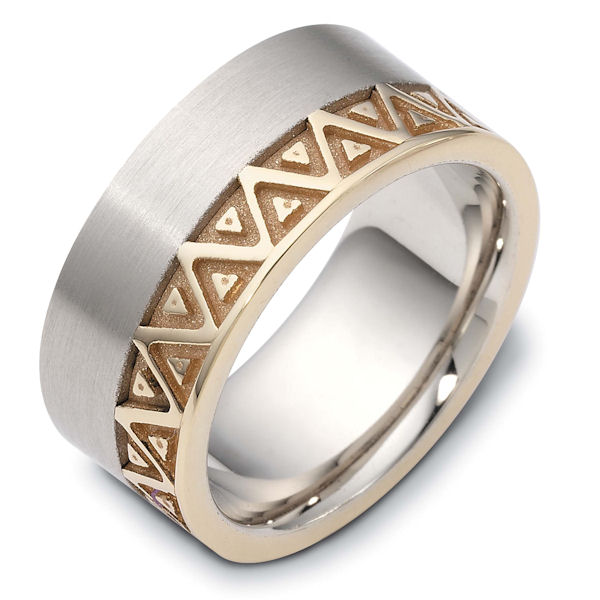 Item # B122301E - Clasic Carved Wedding Band View-1