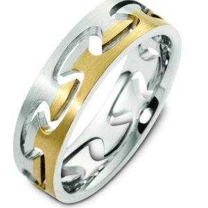B123981 Together Free 14K Two Tone Gold Wedding Ring