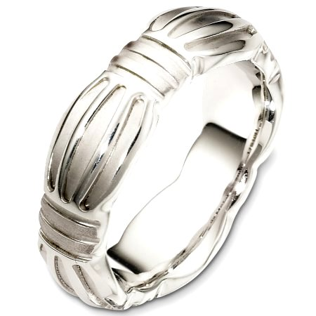 Palladium Contemporary Wedding Band