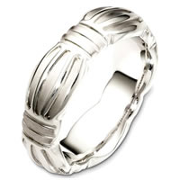 Item # B126801PD - Palladium Contemporary Wedding Band