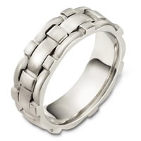 14 Kt White Gold Wedding Band