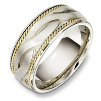 Item # B131951PE - Platinum and 18 Kt Handcrafted Wedding Band