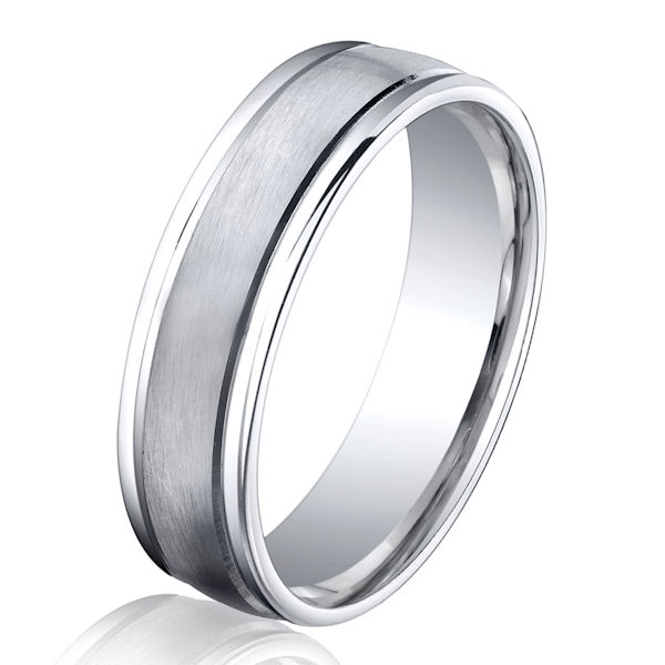 B13280C Cobalt Chrome Classic Wedding Ring