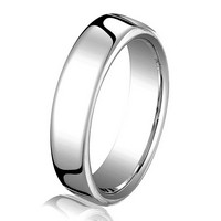 14Kt White Gold 3.5mm  Comfort Fit Wedding Ring