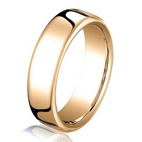 Item # B25823R - 14K Rose Gold 4.5mm Comfort Fit Wedding Band