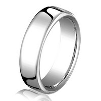 14Kt White Gold 4.5mm Comfort Fit Wedding Band