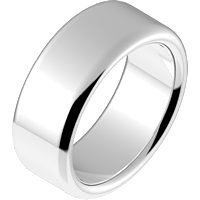 Item # B25853WE - 18K White Gold 7.5mm  Comfort Fit Wedding Ring