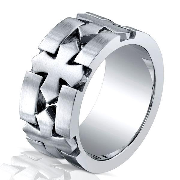 b616155c cobalt chrome celtic cross wedding ring