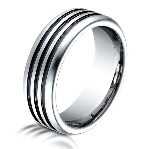 B723238C Black Cobalt Chrome 75 MM Wedding Band