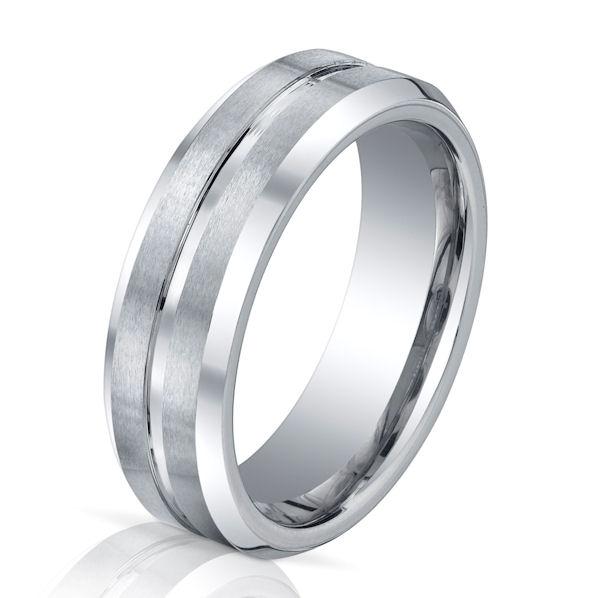 B73117C Cobalt Chrome Classic Wedding Ring