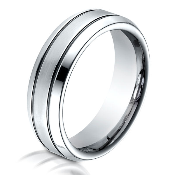 B73353C Cobalt Chrome Classic Wedding Ring