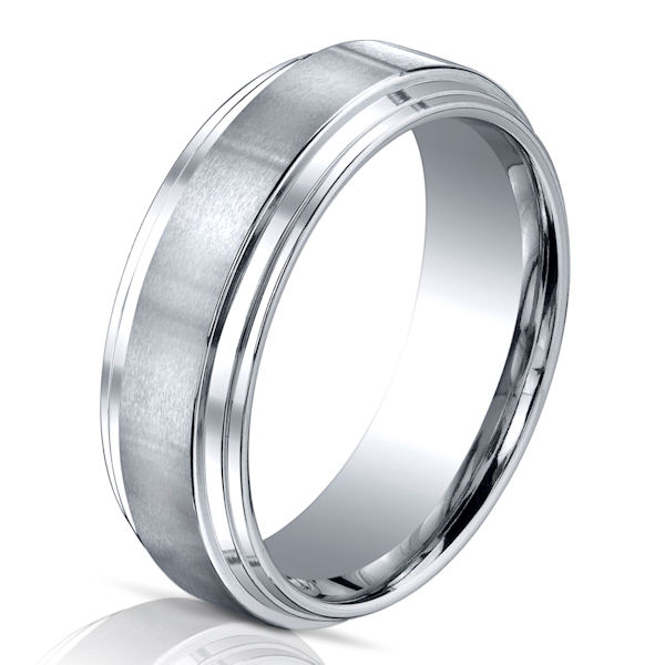 B73778C Cobalt Chrome Classic Wedding Ring