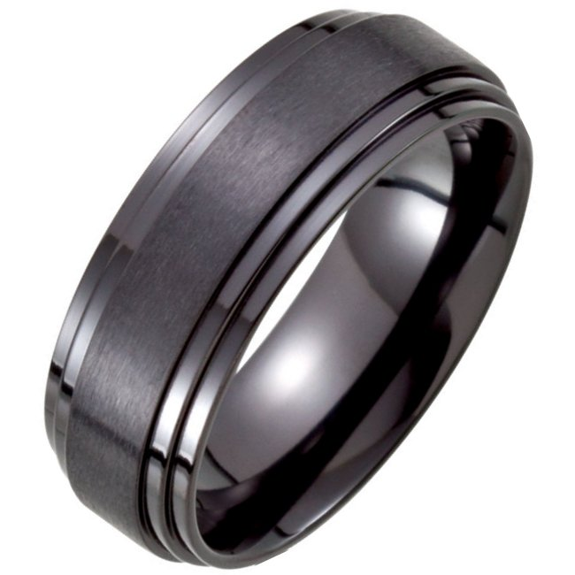 Black Titanium Classic Wedding Band