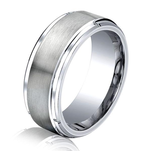 B75164C Cobalt Chrome Classic Wedding Ring