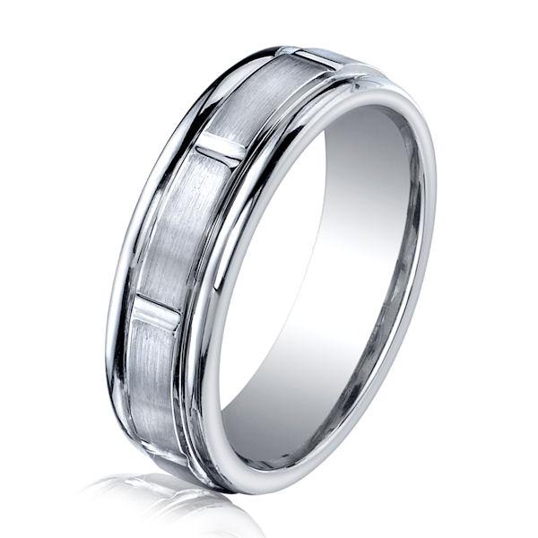 B83130C Cobalt Chrome Classic Wedding Ring
