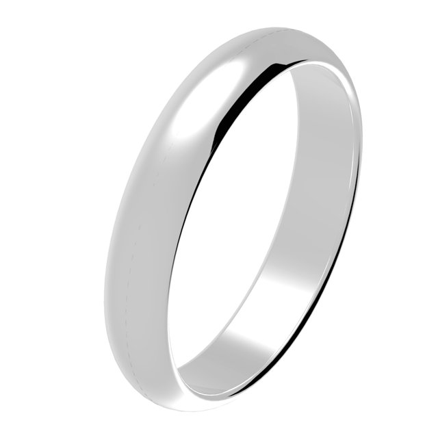 Platinum Wedding Ring Comfort Fit 4 mm Wide