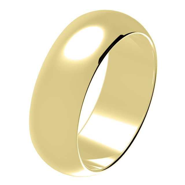 His and Hers Wedding Band 14Kt Gold Comfort Fit