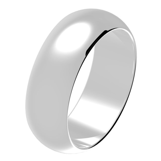 Wedding Band White Gold Comfort Fit