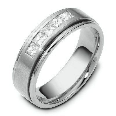 Item # C115681PP - Platinum Diamond Wedding Ring View-1