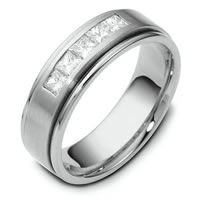 Item # C115681WE - 18kt White Gold Diamond Wedding Band