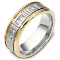 14KT Two-Tone Diamond Wedding Ring